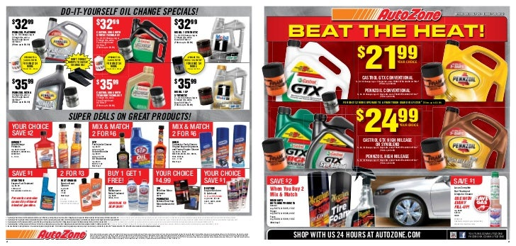 Daily deals on car parts only at autozone for How much is motor oil at autozone