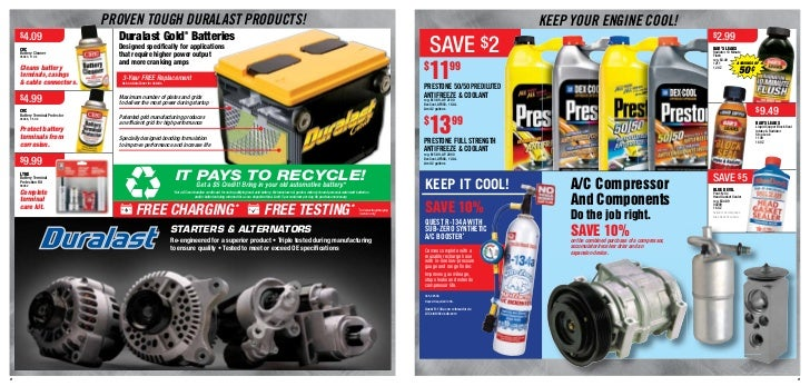 Daily Deals on Car Parts - only at AutoZone!