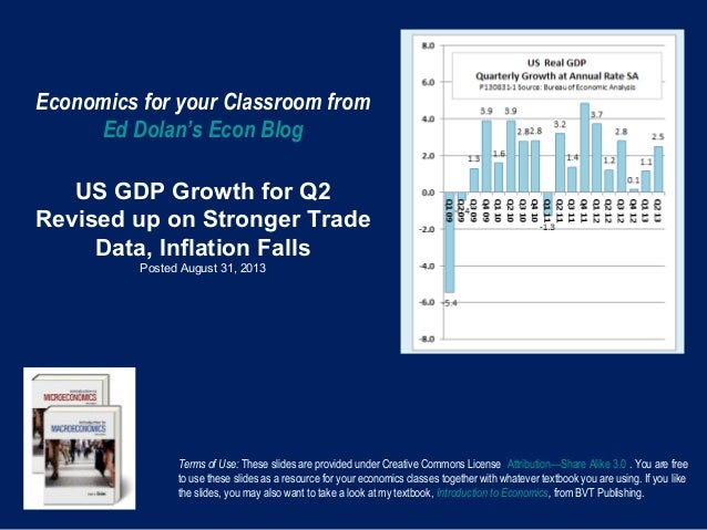 Economics for your Classroom from Ed Dolan's Econ Blog US GDP Growth for Q2 Revised up on Stronger Trade Data, Inflation F...