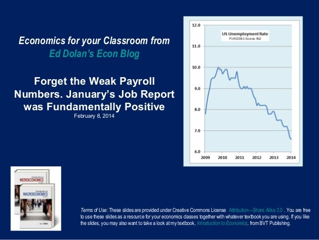 Economics for your Classroom from Ed Dolan's Econ Blog Forget the Weak Payroll Numbers. January's Job Report was Fundament...