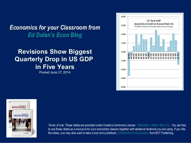 Economics for your Classroom from Ed Dolan's Econ Blog Revisions Show Biggest Quarterly Drop in US GDP in Five Years Poste...