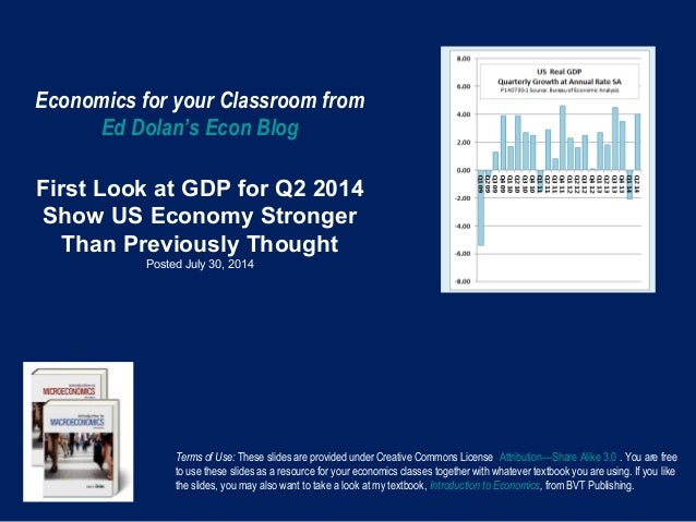 Economics for your Classroom from Ed Dolan's Econ Blog First Look at GDP for Q2 2014 Show US Economy Stronger Than Previou...