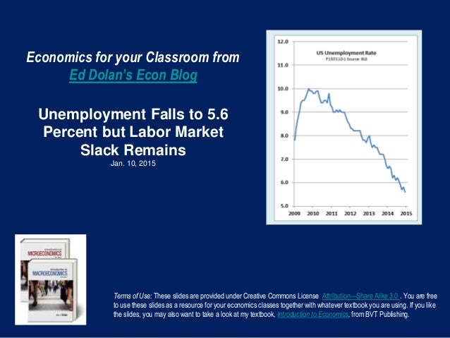 Economics for your Classroom from Ed Dolan's Econ Blog Unemployment Falls to 5.6 Percent but Labor Market Slack Remains Ja...