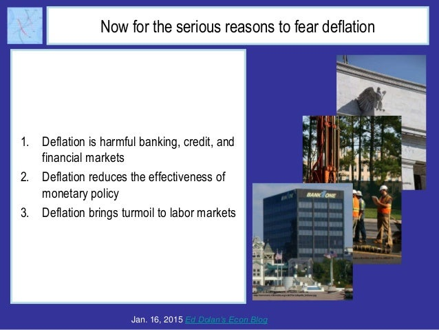 Now for the serious reasons to fear deflation 1. Deflation is harmful banking, credit, and financial markets 2. Deflation ...