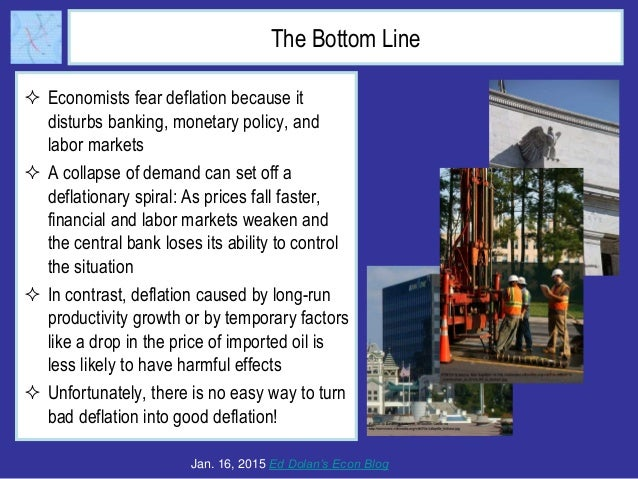 The Bottom Line  Economists fear deflation because it disturbs banking, monetary policy, and labor markets  A collapse o...