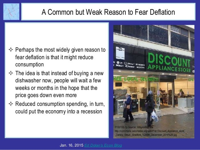 A Common but Weak Reason to Fear Deflation  Perhaps the most widely given reason to fear deflation is that it might reduc...