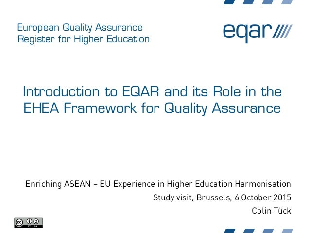 European Quality Assurance Register for Higher Education Introduction to EQAR and its Role in the EHEA Framework for Quali...