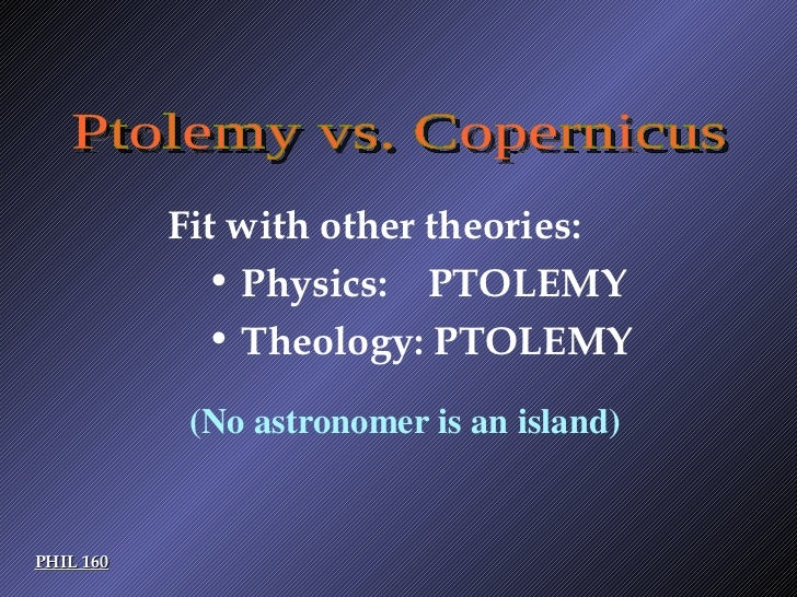 Ptolemaic theory vs copernican theory essay