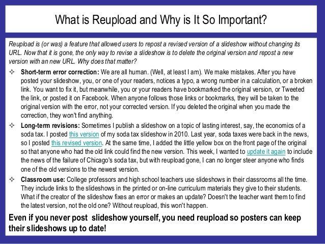 Bring back Reupload! Slide 2