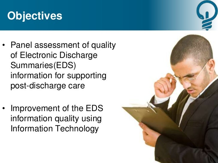 The Quality of Electronic Discharge Summaries for Post-Discharge Care…