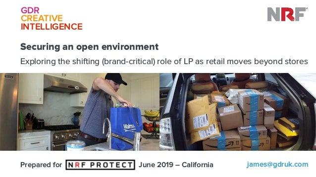 GDR CREATIVE INTELLIGENCEGDR CREATIVE INTELLIGENCE james@gdruk.comPrepared for June 2019 – California Securing an open e...