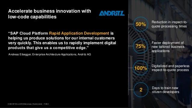 "15PUBLIC© 2020 SAP SE or an SAP affiliate company. All rights reserved. ǀ ""SAP Cloud Platform Rapid Application Developmen..."