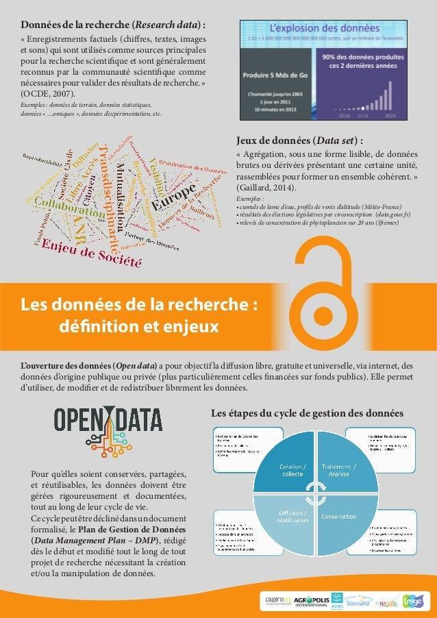 Les données de la recherche : définition et enjeux Consortium Unifié des Etablissements Universitaires et de Recherche pou...