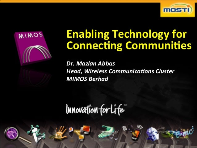 Enabling	  Technology	  for	                                      Connec2ng	  Communi2es	                                 ...