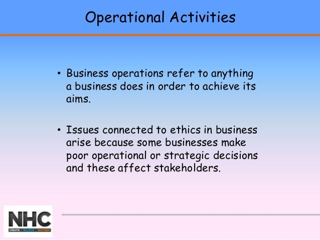 how a selected business could improve the ethics of their operations Start studying geb chapter 10 learn vocabulary, terms, and more with flashcards, games business ethics, _____ improve a firm's standing in the community c.
