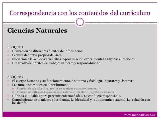 Correspondencia con los contenidos del currículum BLOQUE 1  Utilización de diferentes fuentes de información.  Lectura d...
