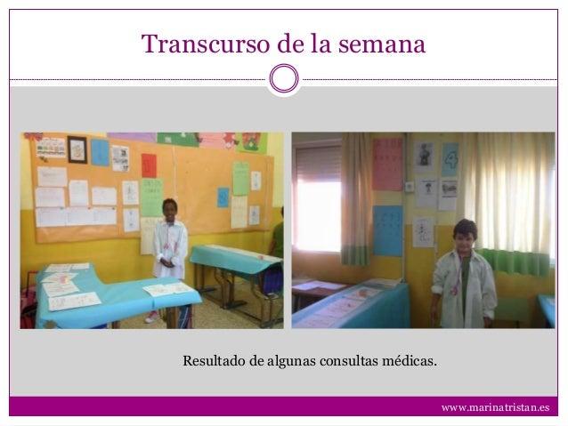 Transcurso de la semana Resultado de algunas consultas médicas. www.marinatristan.es