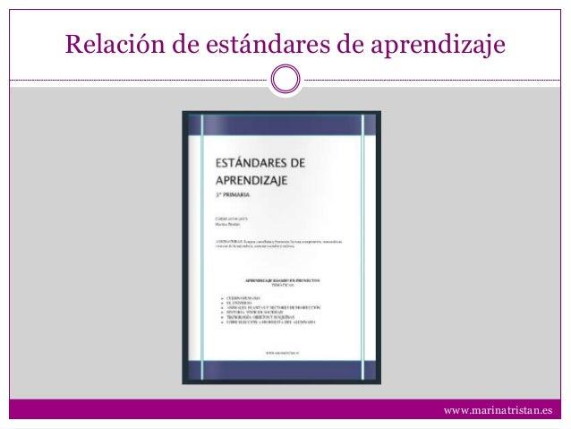 Relación de estándares de aprendizaje www.marinatristan.es