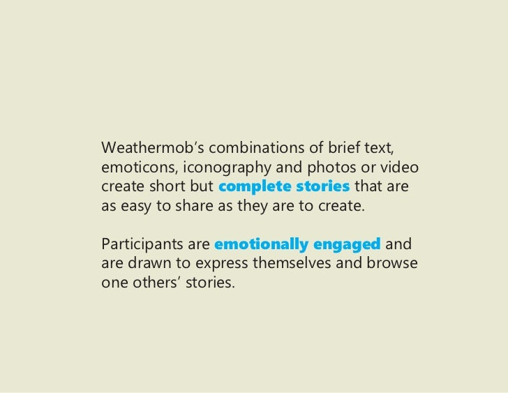 Weathermob S Combinations Of Brief Text Emoticons