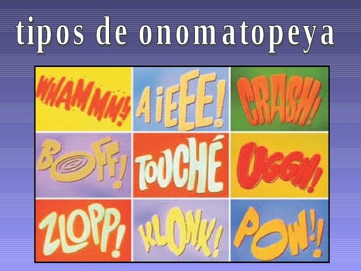 tipos de onomatopeya
