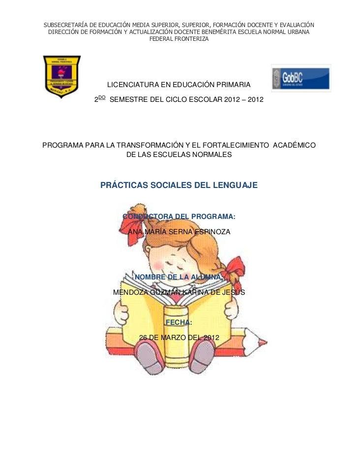SUBSECRETARÍA DE EDUCACIÓN MEDIA SUPERIOR, SUPERIOR, FORMACIÓN DOCENTE Y EVALUACIÓN DIRECCIÓN DE FORMACIÓN Y ACTUALIZACIÓN...