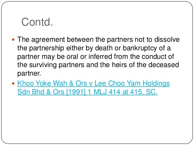 Dissolution of Partnership – Partnership Dissolution Agreement