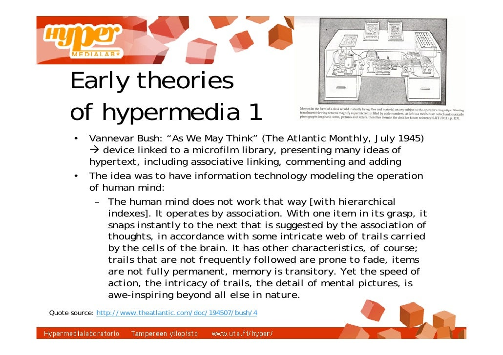 Hypertext is a way of presenting information