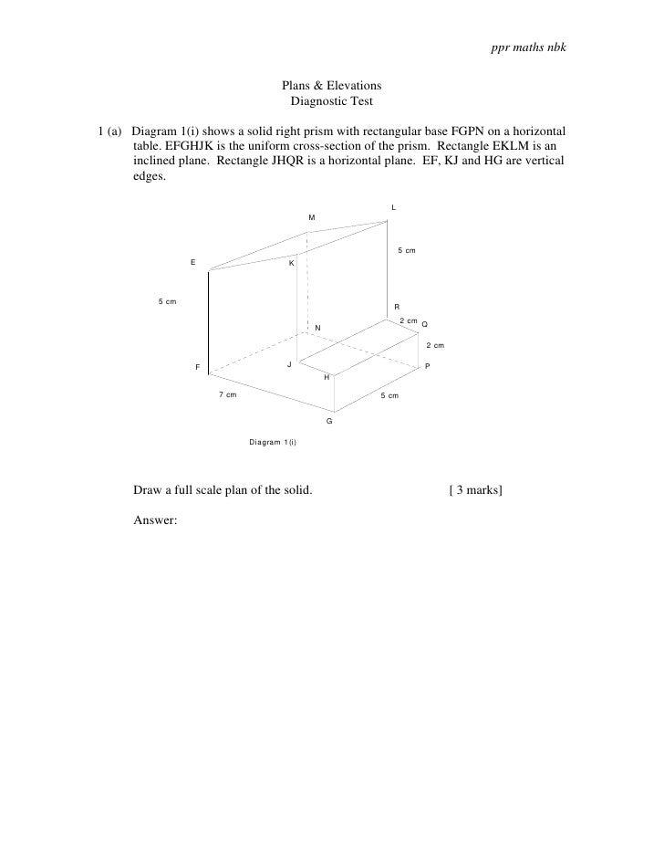 ppr maths nbk                                        Plans & Elevations                                        Diagnostic ...