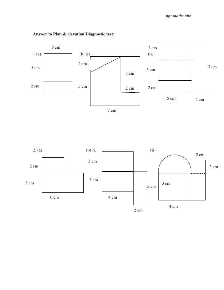 Plan Elevation Of A Cuboid : P plans elevation test