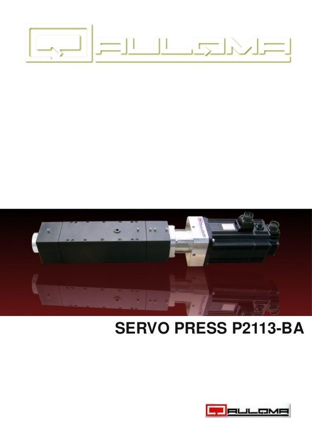 SERVO PRESS P2113BA