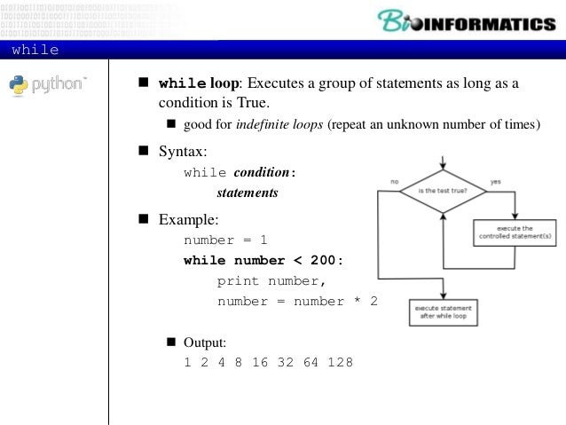 if if statement: Executes a group of statements only if a certain condition is true. Otherwise, the statements are skippe...