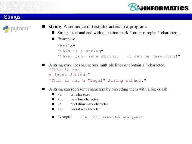 """Indexes  Characters in a string are numbered with indexes starting at 0:  Example: name = """"P. Diddy""""  Accessing an indi..."""