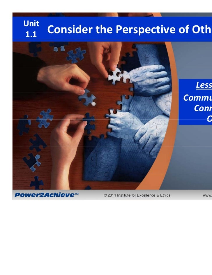 1 Unit 1.1    ConsiderthePerspectiveofOthers                                                               Lesson1.1....