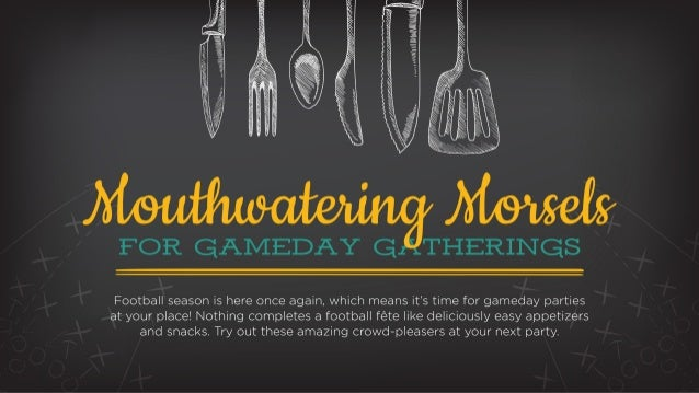 Recipes for Game Days!