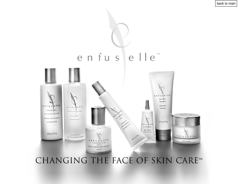 back to main     CHANGING THE FACE OF skin care™
