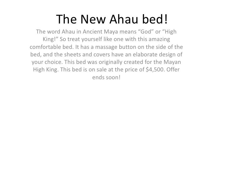 """The New Ahau bed!  The word Ahau in Ancient Maya means """"God"""" or """"High     King!"""" So treat yourself like one with this amaz..."""