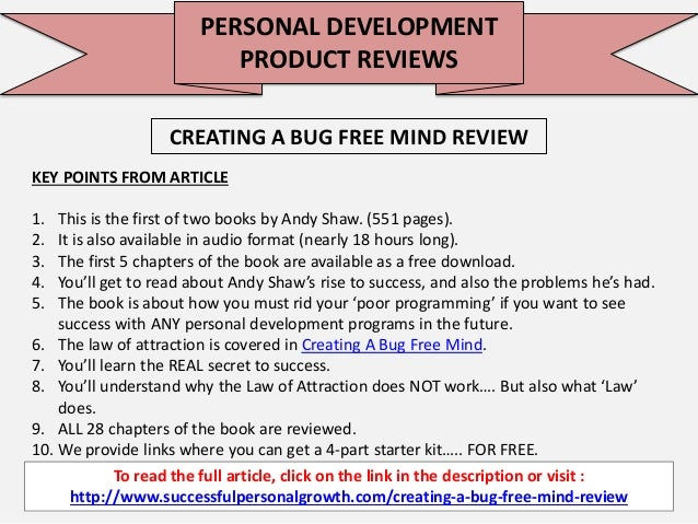 CREATING A BUG FREE MIND EPUB DOWNLOAD