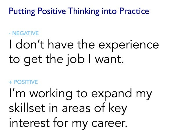 positive and negative speeches example Positive thinking through positive speaking  positive and negative for example, that's great is a positive phrase that's a problem is a negative phrase.