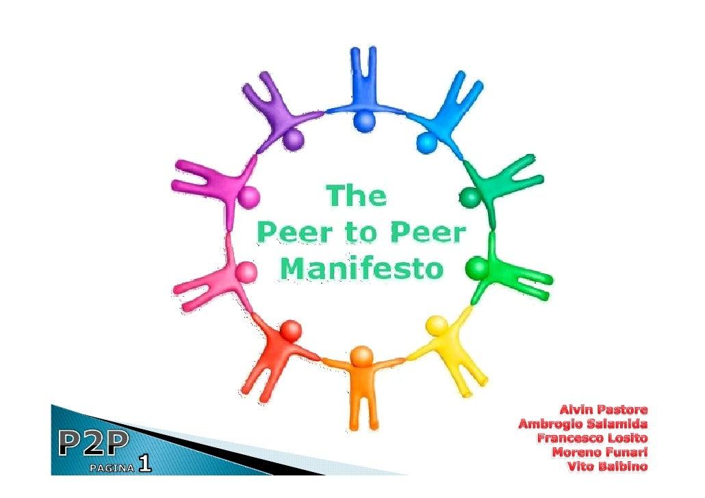 Generalmente per peer-to-   peer (o P2P), cioè rete paritaria, si intende una rete      informatica che non  possiede nodi...