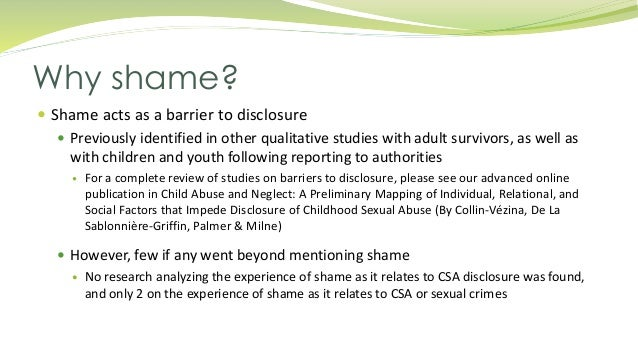 Child sexual abuse case study