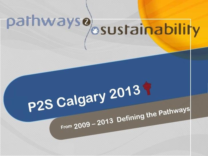 Pathways 2009 - Cochrane