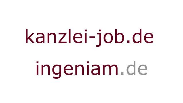 kanzlei-job.de ingeniam.de