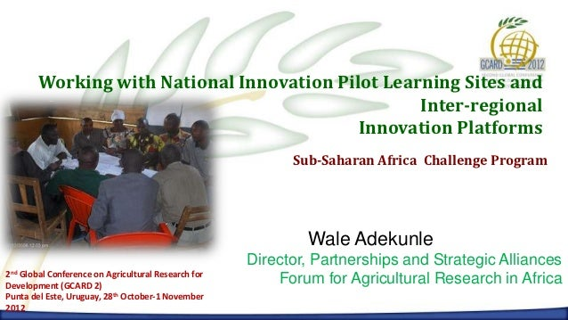 Working with National Innovation Pilot Learning Sites and                                                   Inter-regional...