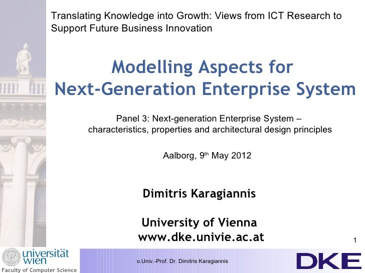 Translating Knowledge into Growth: Views from ICT Research to                 Support Future Business Innovation          ...