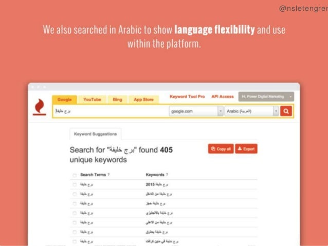 """We also searched in Arabic to show language flexibility and use  within the platform.       *-v-°~*°°""""~ ~""""~= °--  T  -A-5;..."""