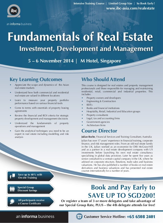 Real Property Management And Development Of : Fundamentals of real estate investment development and