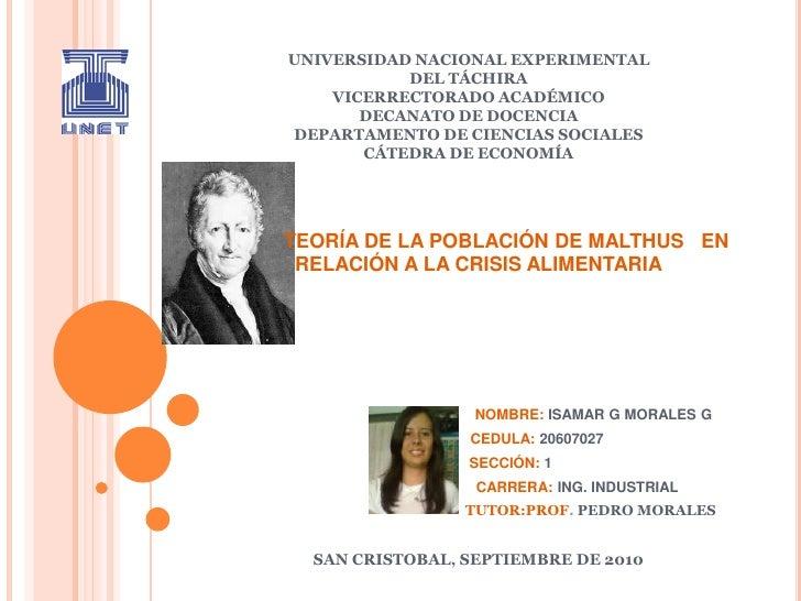 UNIVERSIDAD NACIONAL EXPERIMENTALDEL TÁCHIRAVICERRECTORADO ACADÉMICODECANATO DE DOCENCIADEPARTAMENTO DE CIENCIAS SOCIALESC...