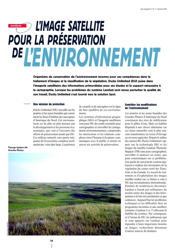 spot magazine n° 38 - 2e semestre 2004                                   L'IMAGE SATELLITE                            anal...