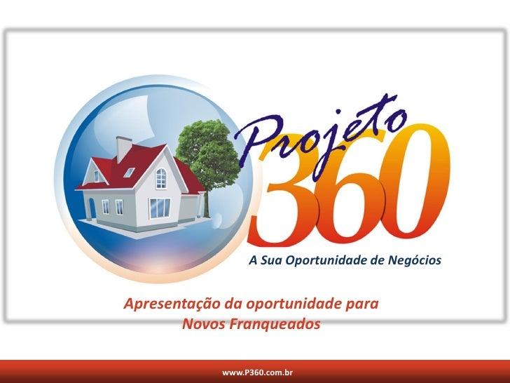 A Sua Oportunidade de Negócios   Apresentação da oportunidade para        Novos Franqueados              www.P360.com.br