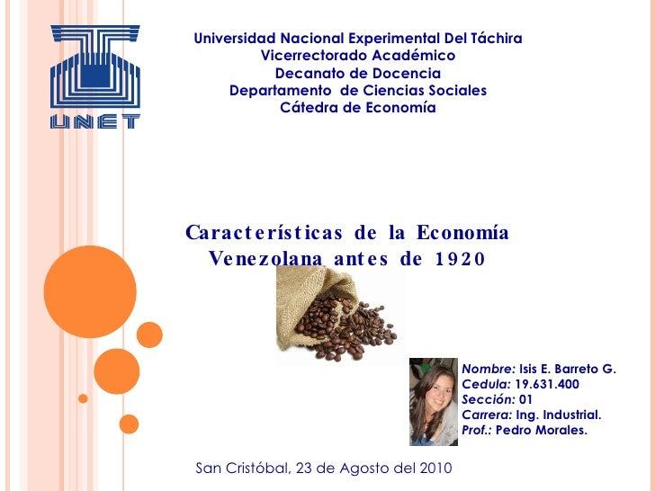 Universidad Nacional Experimental Del Táchira Vicerrectorado Académico Decanato de Docencia Departamento  de Ciencias Soci...